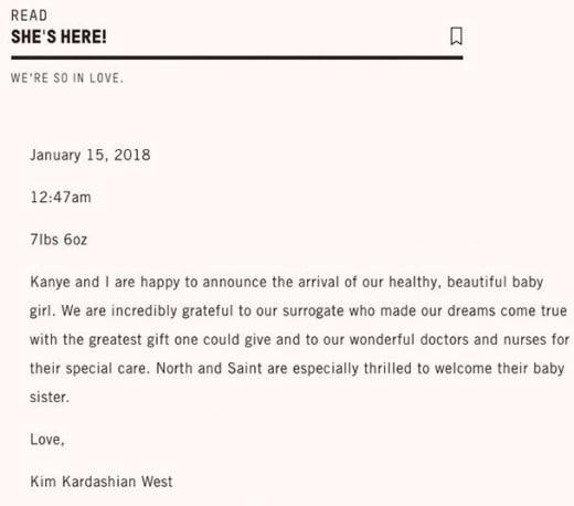 kim statement