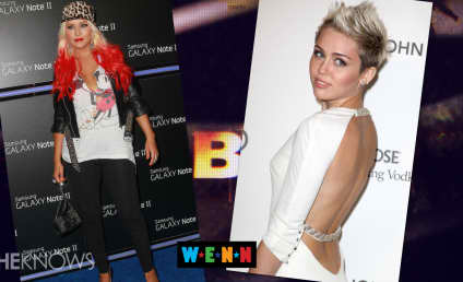 Miley Cyrus and Christina Aguilera: Feuding Over Leather Pants?