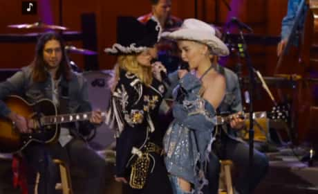 Miley Cyrus and Madonna Duet
