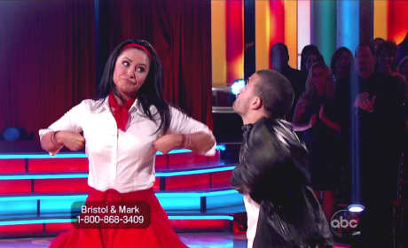 Bristol and Mark on DWTS