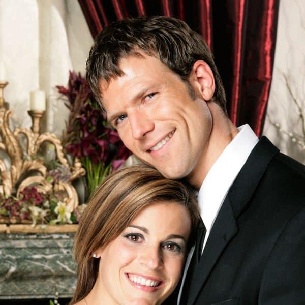 Travis Stork and Sarah Stone