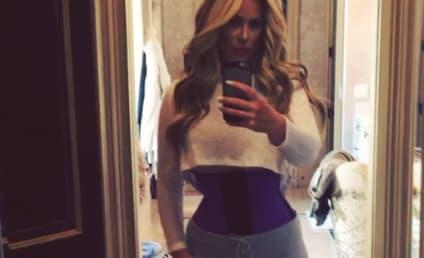Kim Zolciak Lies About Weight Loss, Uses Waist Trainer