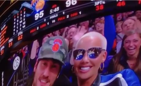 Val Chmerkovskiy and Amber Rose: Kiss Cam!