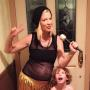 Tori Spelling Halloween baby bump