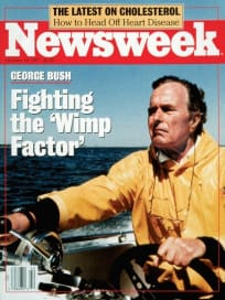 George H.W. Bush Wimp Newsweek Cover