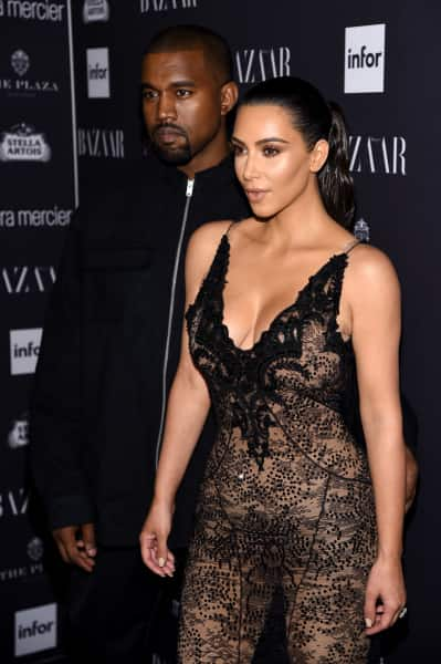 Kim Kardashian and Kanye West on the Red Carpet Picture