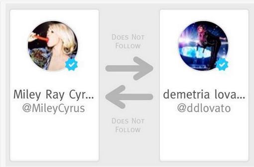 Miley Unfollows Demi