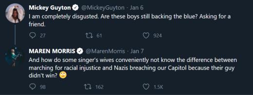 Maren Morris tweet - how do some singers' wives ...
