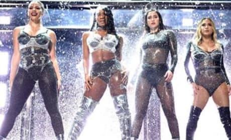 "Fifth Harmony Hurls ""Camila Cabello"" Off Stage at MTV VMAs"