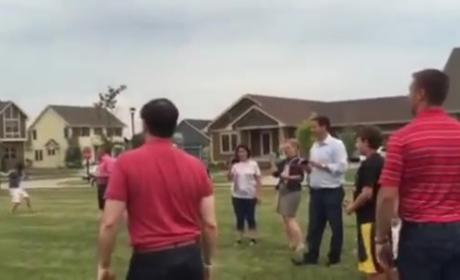 Marco Rubio Hits Kid in Face With Football, Internet Laughs