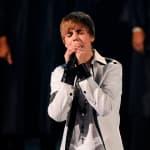 Kneeling on Stage