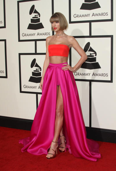 Taylor Swift at the 2016 Grammys