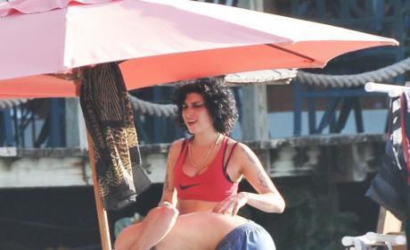 Amy Winehouse with Josh Bowman