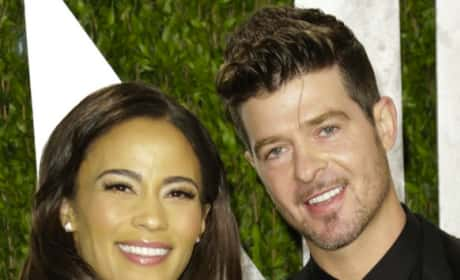 Robin Thicke and Paula Patton: Happier Times