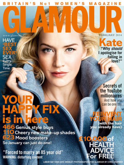 Kate Winslet Glamour Cover
