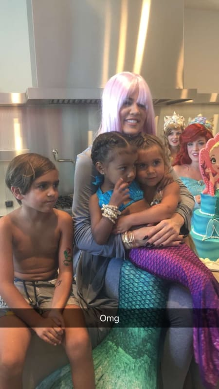 North West And Penelope Disick Birthday Party A Mermaid