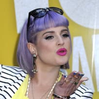 Kelly Osbourne Purple Hair Pic