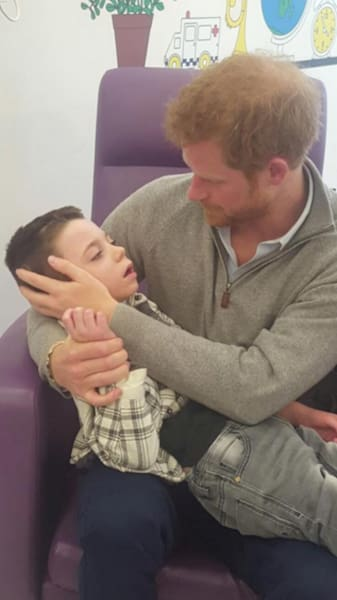 Prince Harry Visits Terminally Ill Boy