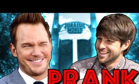 Chris Pratt: Pranked in Jurassic World Interview!