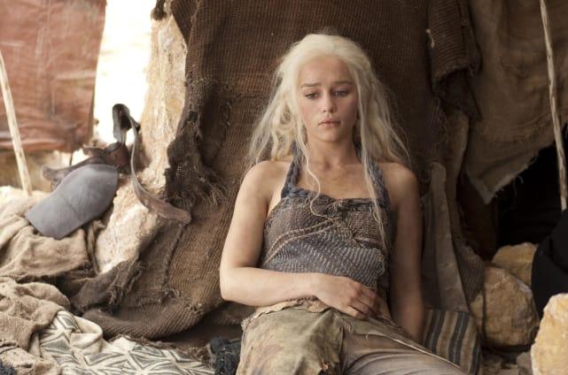 Emilia Clarke on Game of Thrones