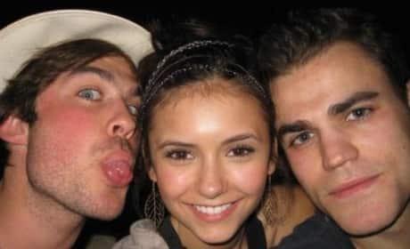 Nina Dobrev, Paul and Ian