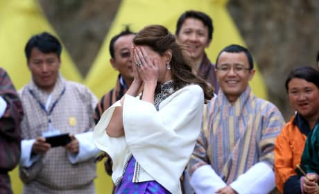 Kate Middleton Reacts To Her Dart-Throwing Skills in Bhutan