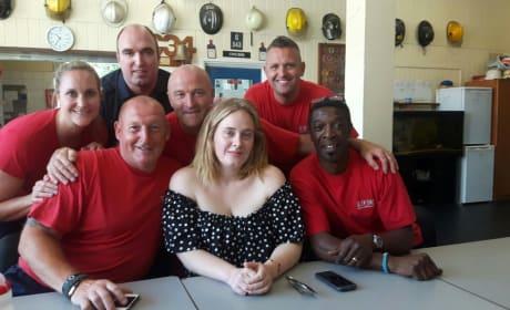 Adele Visits London Fire Station
