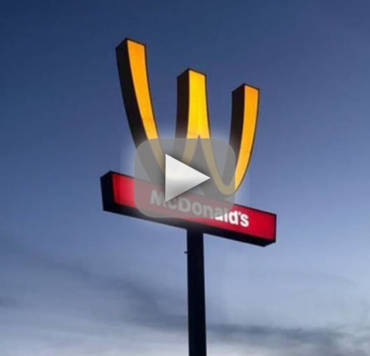 Mcdonalds flips its arches upside down for international womens