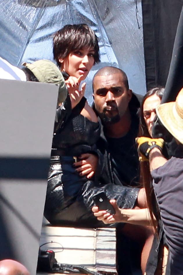 Kim Kardashian and Kanye West in Los Angeles