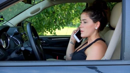 Jenelle on a Phone