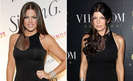 Who wears this dress better: Khloe Kardashian or Fergie?
