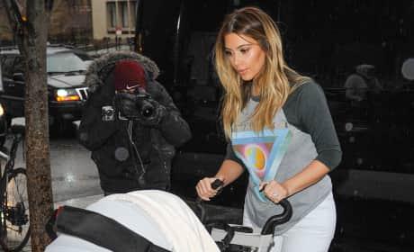 Kim Kardashian, North West Stroller