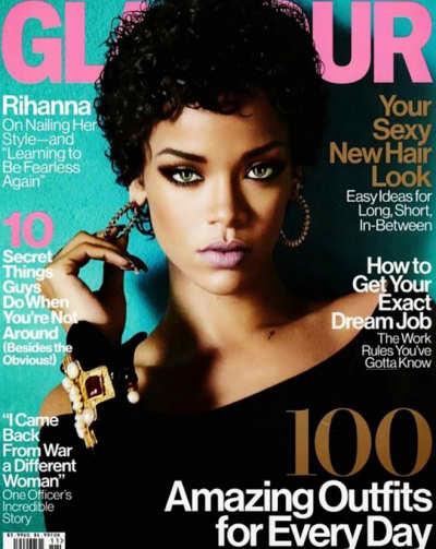 Rihanna Glamour Magazine Cover