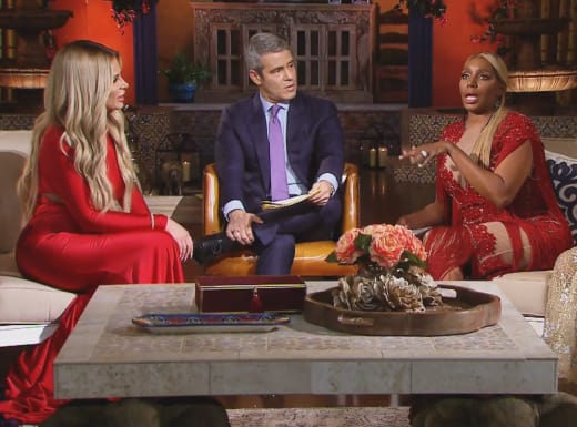 Kim Zolciak, Andy Cohen, and NeNe Leakes
