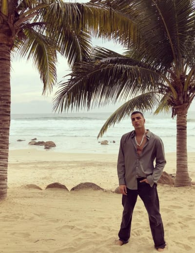 Younes Bendjima on a Beach