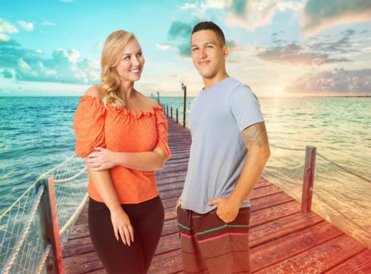 Amber and Daniel for Love In Paradise: The Caribbean, A 90 Day Story