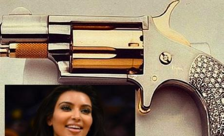 Kim Kardashian Gun Photo