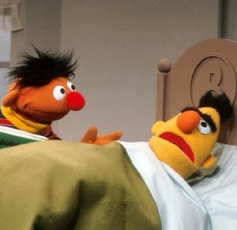 bert in bed