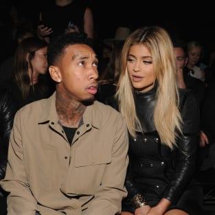 Kylie Jenner and Tyga at Alexander Wang show