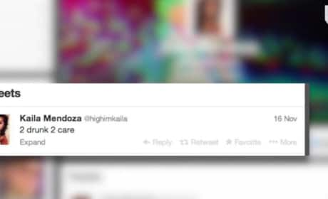 "Kaila Mendoza ""2 Drunk 2 Care"" Tweet"