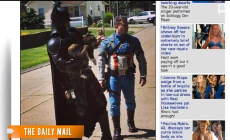Batman and Captain America Rescue a Cat!