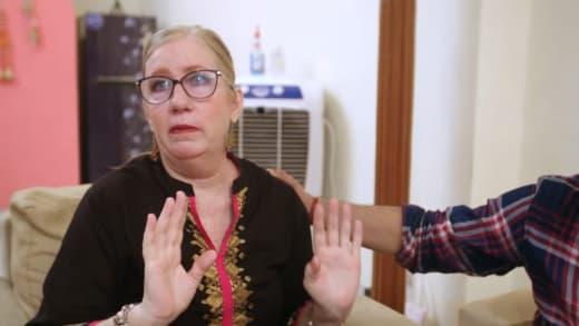 Jenny Slatten begins to cry