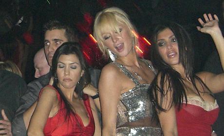 Kourtney Kardashian, Paris Hilton and Kim Kardashian Dance at Tao Las Vegas in 2006
