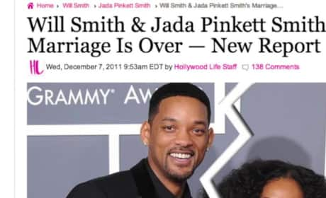 Will Smith Learns Jada Pinkett Smith is Divorcing Him