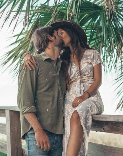 kissing hubby