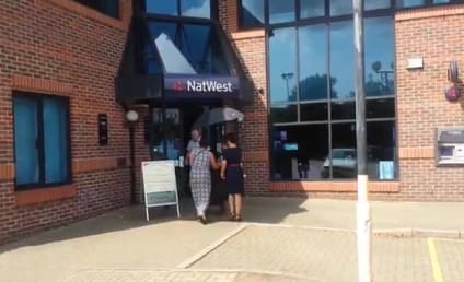Bank Patrons Take Cover from Attacking Seagull in England