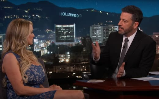 Stormy Daniels and Jimmy Kimmel