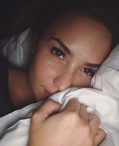 Demi Lovato Bed Selfie