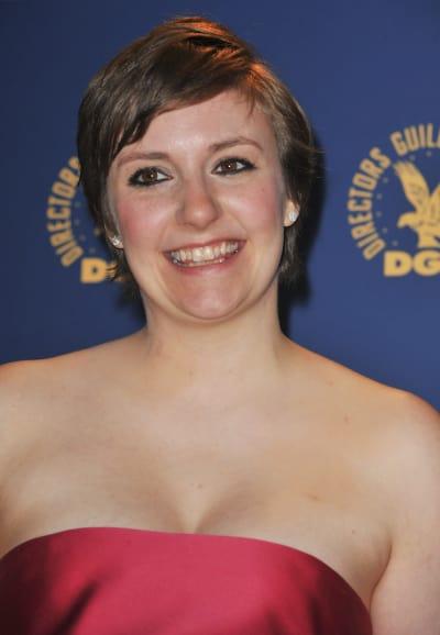 Lena Dunham Smiles