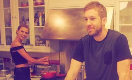 Karlie Kloss and Calvin Harris